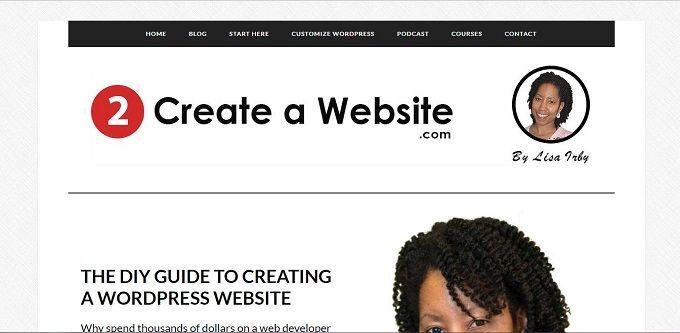 top blogs for women - 2 Create a website