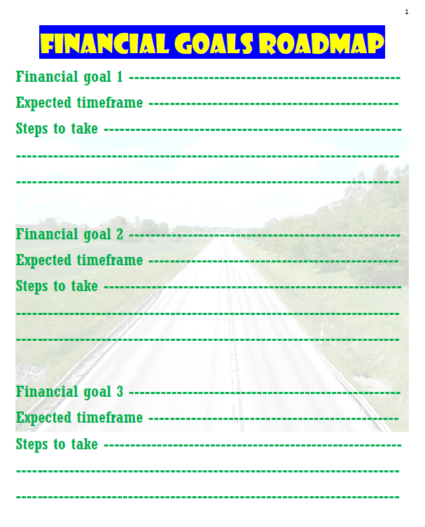 Financial Goals Roadmap