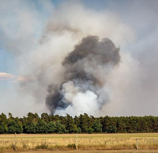 Pożar w Biebrzańskim Parku Narodowym ciężki do ugaszenia