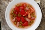 Norwegian Rhubarb & Strawberry Soup (Rabarbrasuppe)