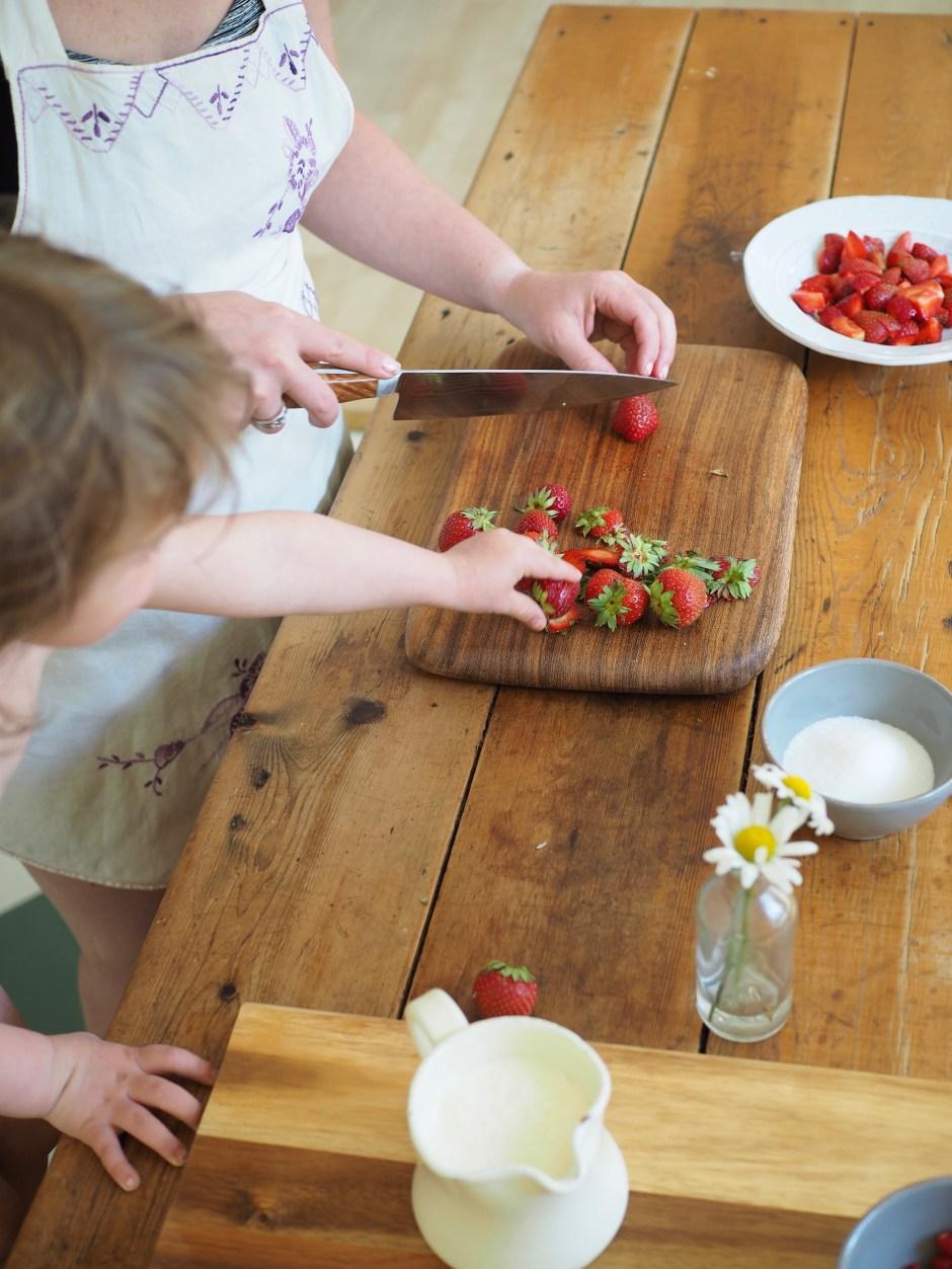 Roasted Strawberry and Lemon Ice Cream