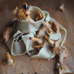 Juniper Berry & Barley Noodles with Creamy Chanterelles