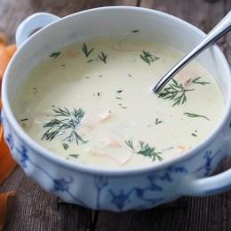 Norwegian Creamy Cod Soup (Torskesuppe)