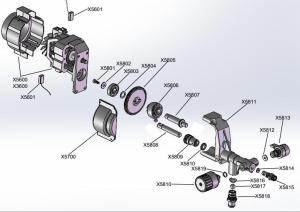 Airless sprayer Spare parts and exploded drawing | DP