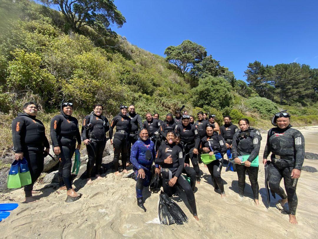 Waitangi Diving wānanga participants
