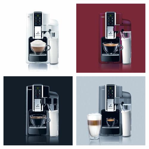 Descriere Aparat de cafea, 1.0L, rosu, 15 bar, Espressor TCHIBO Cafissimo Latte