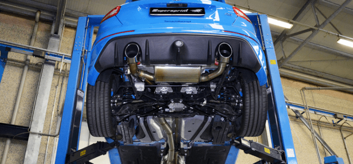2017 ford focus rs supersprint exhaust