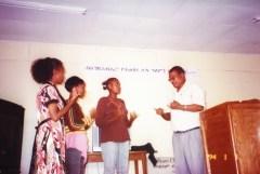 Pastor Bizuayehu and recent converts
