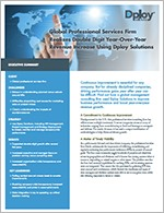 Dploy Solutions Case Study - Global Professional Services cover