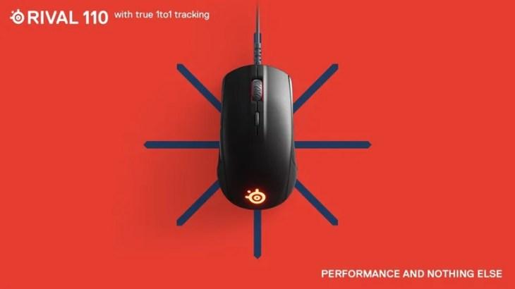 「1-to-1 tracking」対応のゲーミングマウス【SteelSeries Rival110】発表,次世代のエントリー向け定番製品となるか