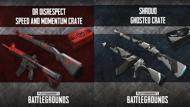 【PUBG】有名配信者「Shroud」「DrDisRespect」をモチーフとした武器スキンが登場。6月4日より入手可能