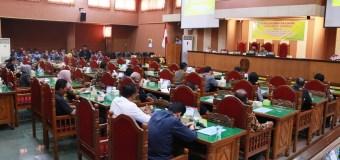 Rapat Paripurna perdana DPRD Kabupaten Ponorogo dengan acara Rapat Paripurna Pengumuman Fraksi dan Struktur Fraksi DPRD Kabupaten Ponorogo.(05/09)