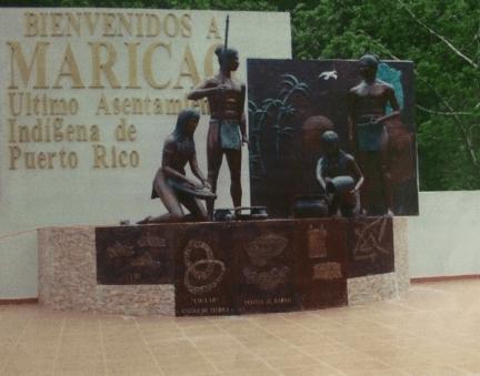 Taino Statues in Maricao