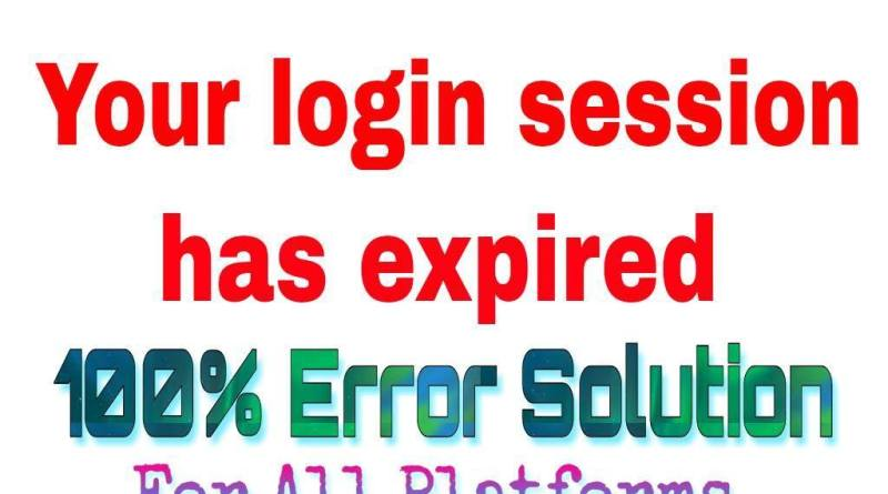 Your login session has expired