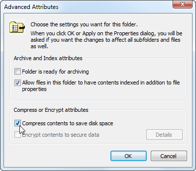 Enable File and Folder Compression 3