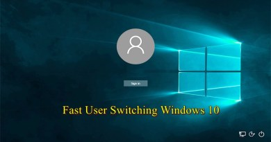 Fast User Switching Windows 10