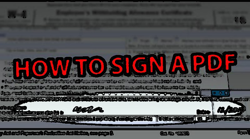 How to Sign a PDF