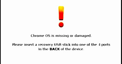 Chrome OS is missing or damaged
