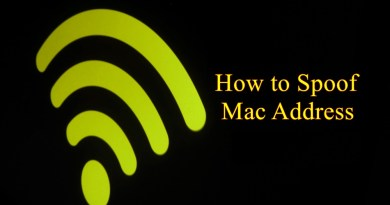 how to spoof mac address