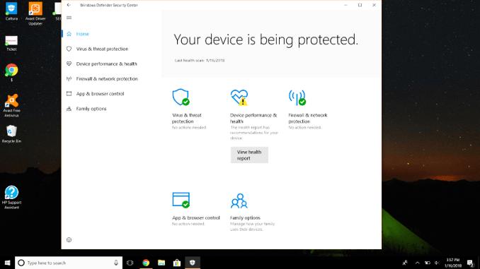 Windows Defender and Avast Windows 10 5
