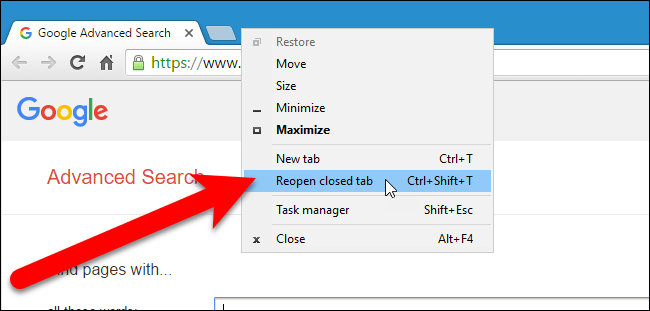 how to open closed tabs 1