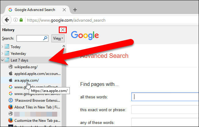 how to open closed tabs 7