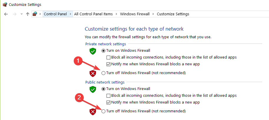 Avast Unable to Start Firewall 5