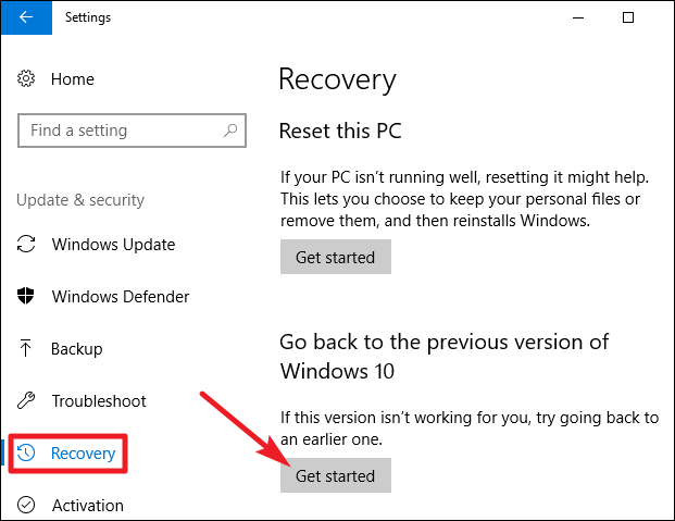 how to uninstall windows 10 update 8