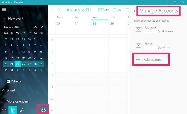 Google calendar app for windows 10 1