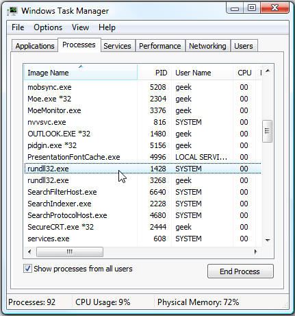 Rundll32.exe Windows Host Process (rundll32) 6