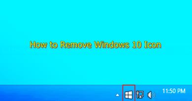 how to remove windows 10 icon