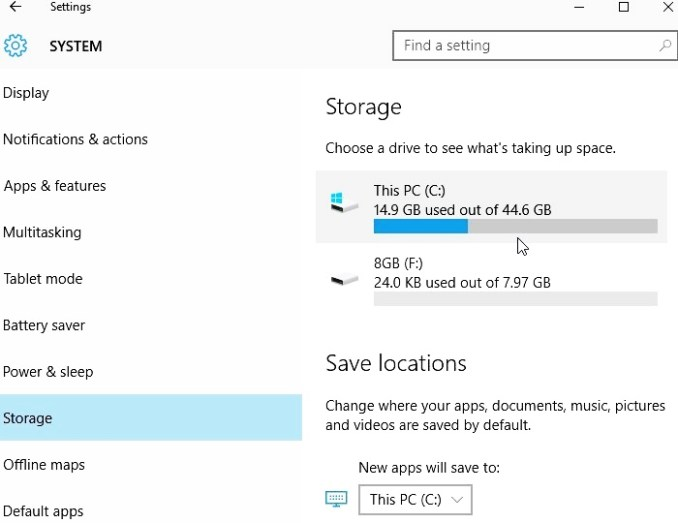 compress this drive to save disk space 12
