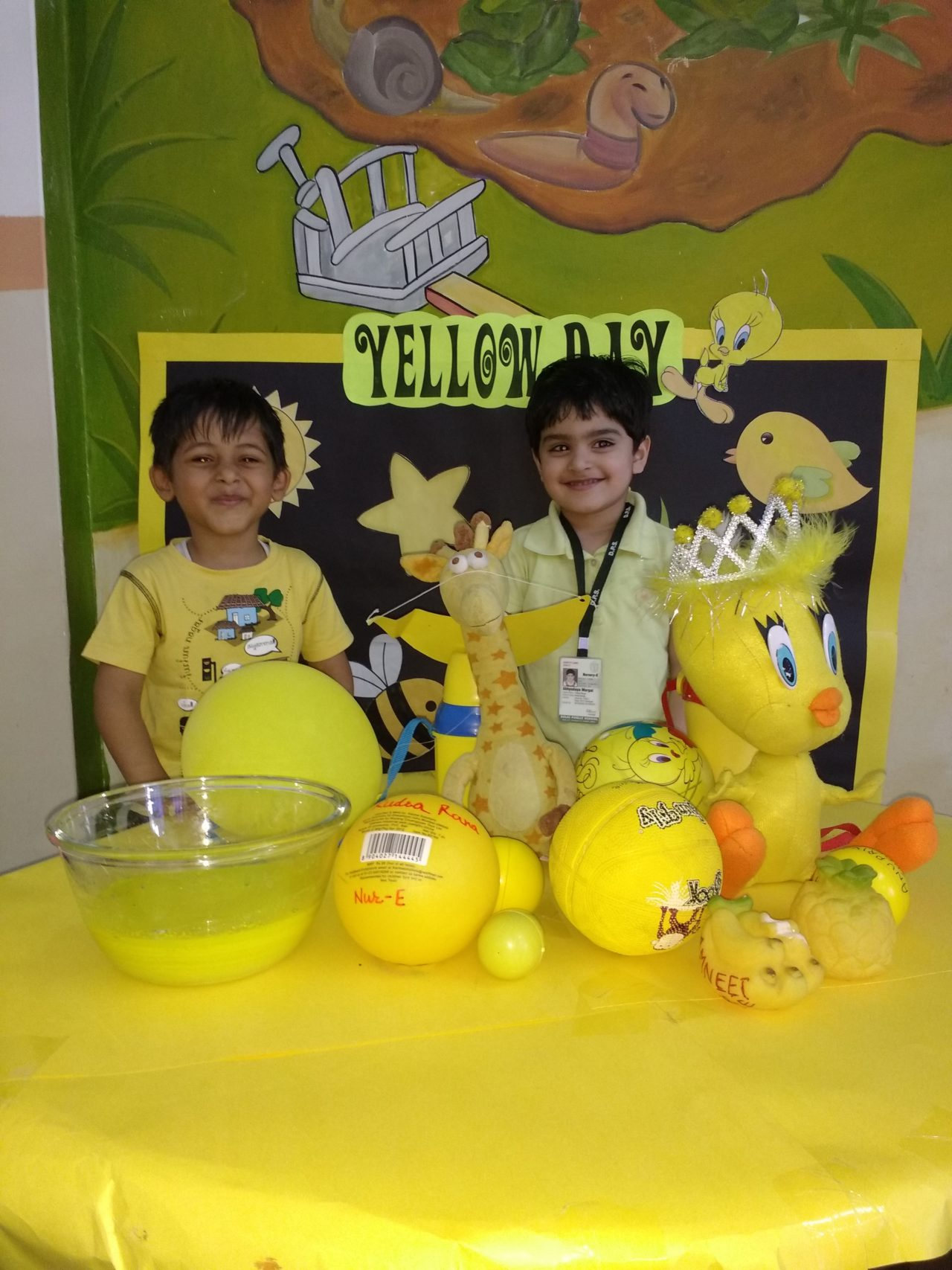 Yellow Week Celebrated By Students Of Nursery