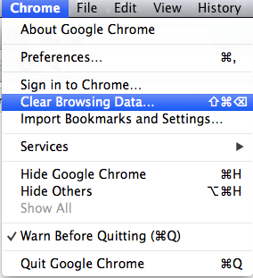 Google Chrome - Clear Cache - 2