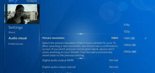 Sky Audio Option