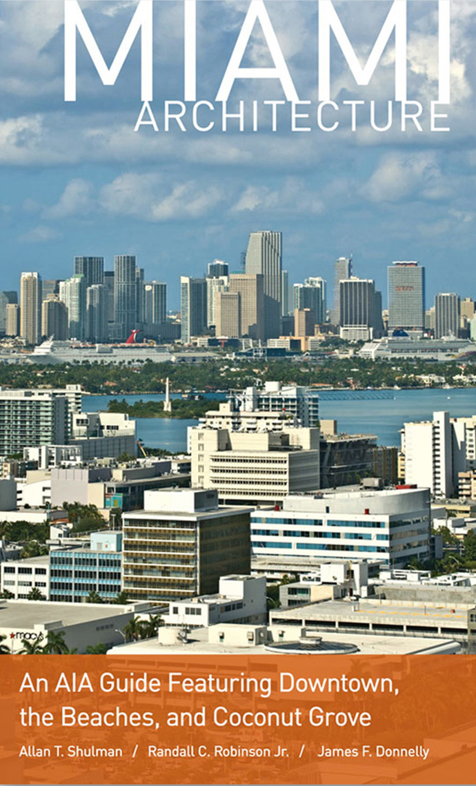 """Miami Architecture: An AIA Guide Featuring Downtown, the Beaches, and Coconut Grove"" Book Cover"