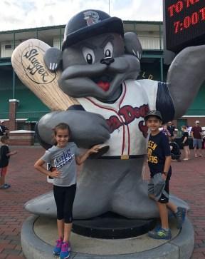 Kids Portland baseball game