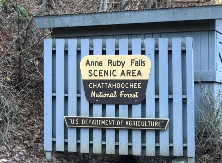Anna Ruby Falls sign