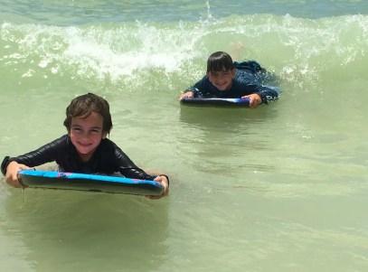Marco island beach boogie board
