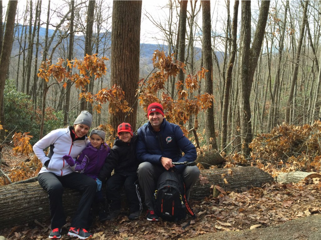 Family log Smoky Mountain hikes