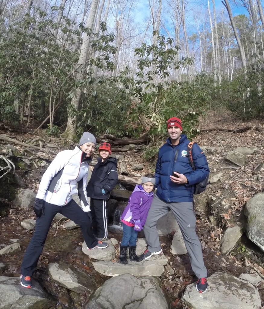 Smoky Mountain hikes Laurel Falls TN family