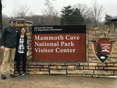Mammoth Cave Sign Couples Trip to Nashville