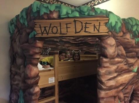Wolf Den michigan with kids