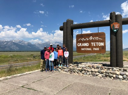 Grand Teton Sign grand teton to yellowstone