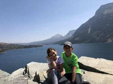 St Mary Lake Kids Glacier National park for kids