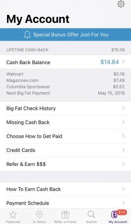 Ebates cashback apps