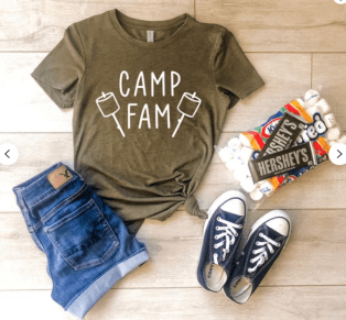 Family camping shirt
