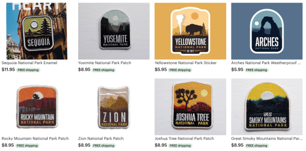 national parks gift guide stickers and patches