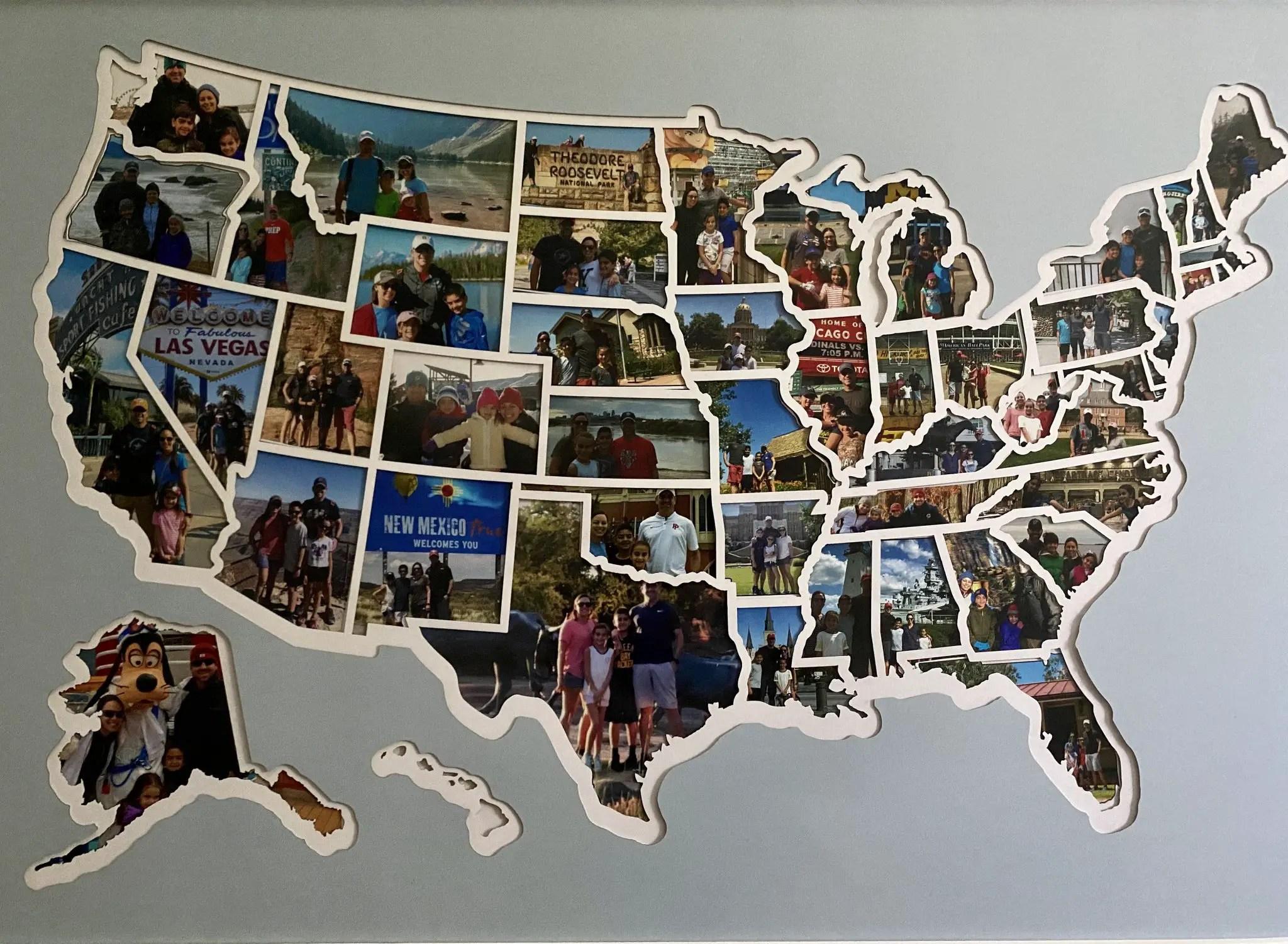 USA Photo Map 49/50