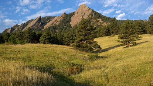 Boulder flatirons cross country travel
